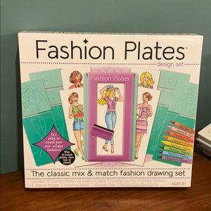 NIB Fashion Plates Design Set Toy - Sealed